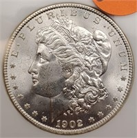 "1902 ""O"" ""MS64"" MORGAN SILVER DOLLAR (329)"