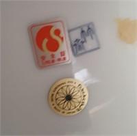814 - ASIAN INSPIRED BOWL & PEDESTAL JAR W/LID