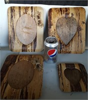 815 - LOT OF 6 WOOD PICTURE FRAMES
