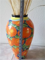 "814 - ""ORANGES"" VASE BY FORD"