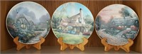 814 - 3 ENGLISH COUNTRY COTTAGES PLATES