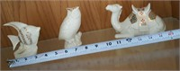 814 - LENOX FISH, OWL & CAMEL FIGURINES