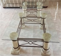 814 - GLASS TOP COFFEE & ACCENT TABLES