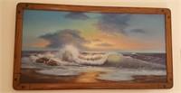 814 - ART: FRAMED SEASCAPE