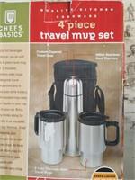 815 - TRAVEL MUG SET, COFFEE MAKER, UTENSILS, MORE