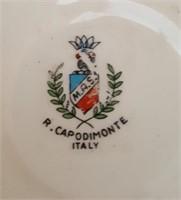 814 - CAPODIMONTE DISH & MIXED LOT