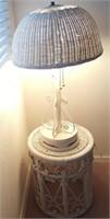 814 - WICKER TABLE LAMP