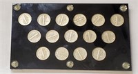 (378) SLABBED MERCURY SILVER DIME COLLECTION