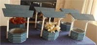 815 - LOT OF 6 WISHING WELL CENTERPIECES