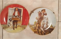 814 - 2 ROCKWELL COLLECTOR PLATES