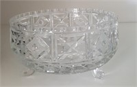 815 - SMALL CRYSTAL FOOTED BOWL