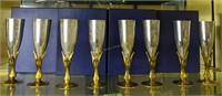 8 Godinger Gold Bird Silver Plate Goblets