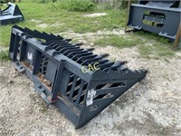 6' Rock Bucket Skid Steer Attachment