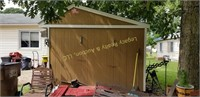 Cook portable warehouse, 10x12 movable shed (just
