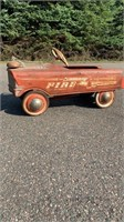 Vintage Murray Fire battalion #1 Pedal car  With