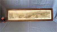 Wooden framed Halifax disaster panoramic photo