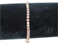 "14kt Gold Ruby & Diamond 7"" Bracelet * Appraisal*"