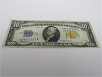 1934 US $10 North Africa Silver Certificate