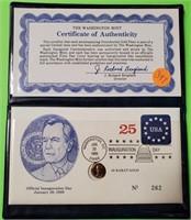 (397) 1OK GOLD GEORGE BUSH PREIDENT COIN