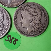LOT OF 3 - MORGAN SILVER DOLLARS (388)