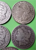 LOT OF 5 - MORGAN SILVER DOLLARS (395)
