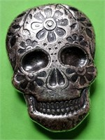 "S 2 TROY OZ ""DAY OF THE DEAD"" SILVER ART BAR"