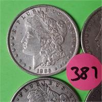 LOT OF 4 - MORGAN SILVER DOLLARS (387)