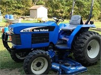 "05 New Holland tc30 tractor 4x4 with 72"" 9144"