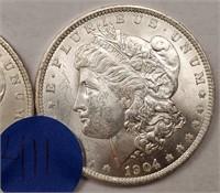 "LOT OF 2 - 1904 ""O"" MORGAN SILVER DOLLAR (411)"