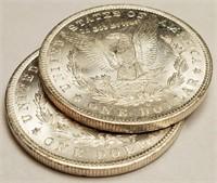 "LOT OF 2 - 1904 ""O"" MORGAN SILVER DOLLAR (410)"