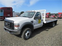 2008 Ford F450 14' S/A Flatbed Truck