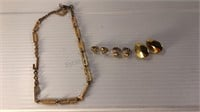 Assorted Costume Jewelry -Necklace & Clip On