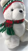 1986 Santa Bear Stuffed Animal