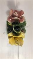Vintage Dea Capodimonte Floral Decor