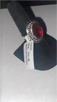 Garnet Color German Silver Ring