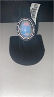 Opal Color German Silver Ring