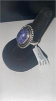 Lapis Color German Silver Ring