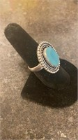 Calcydony Color German Silver Ring