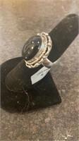 Black Onyx Color German Silver Ring