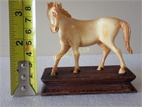Ivory Horse Carving On Stand