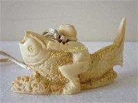 Bone Okimono Carving