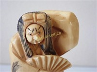 Signed Netsuke with Rotating Face