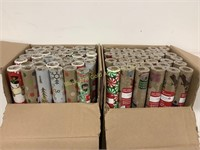 (2) Boxes full of Holiday wrap