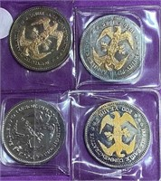 LOT OF 4 COMMEMORTIVE COLLECTOR COINS (84)