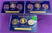 S - LOT OF 3 SETS OF PRESIDENTIAL COIN SETS (70)