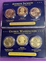 S - LOT OF 4 SETS OF PRESIDENTIAL COIN SETS (71)