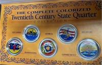LOT OF US COLORIZED STATE QUARTERS (81)