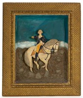 PA folk art carved and painted George Washington diorama (late 19th/early 20th century), in the manner of Noah Weiss (1842-1907)