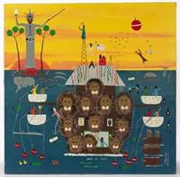 Benny Carter (North Carolina,1943-2014) Outsider Art painting