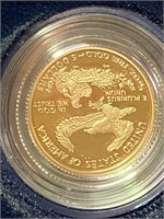 (43QQ) 2001-W $5 PROOF GOLD COIN